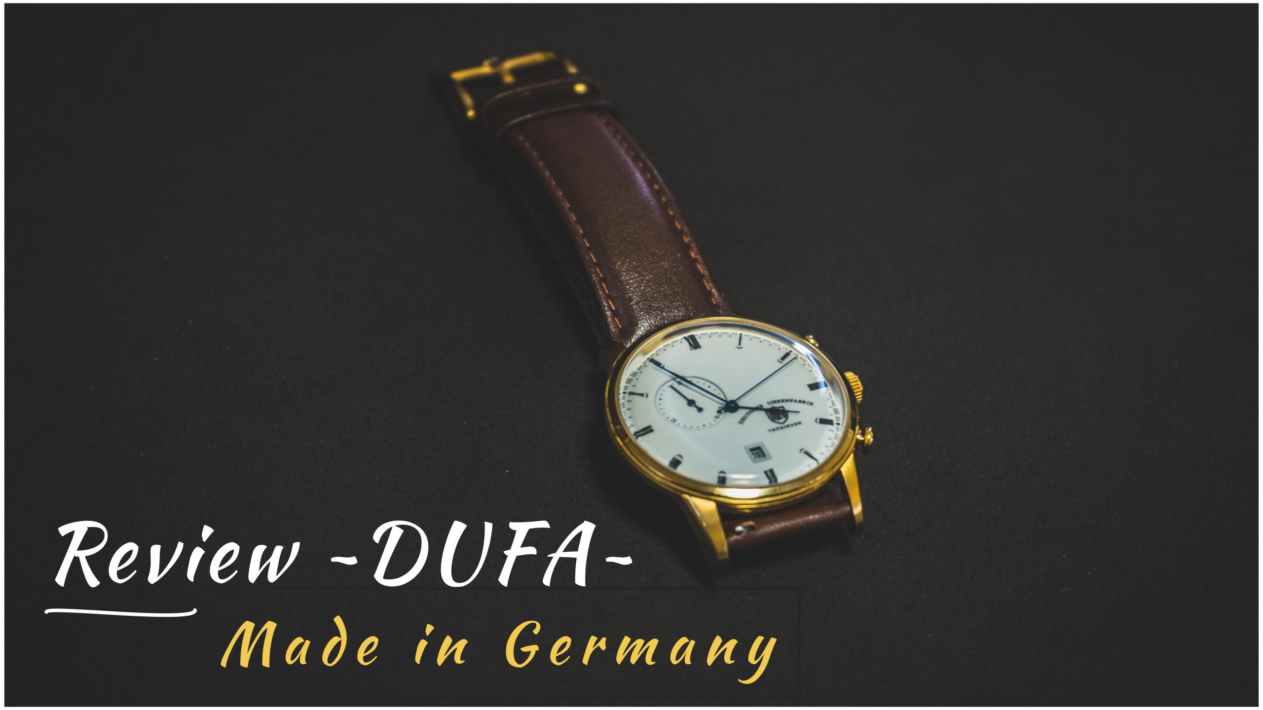【レビュー】DUFA(ドゥッファ)ドイツの腕時計がコアなファンから評判な理由やおすすめを解説!