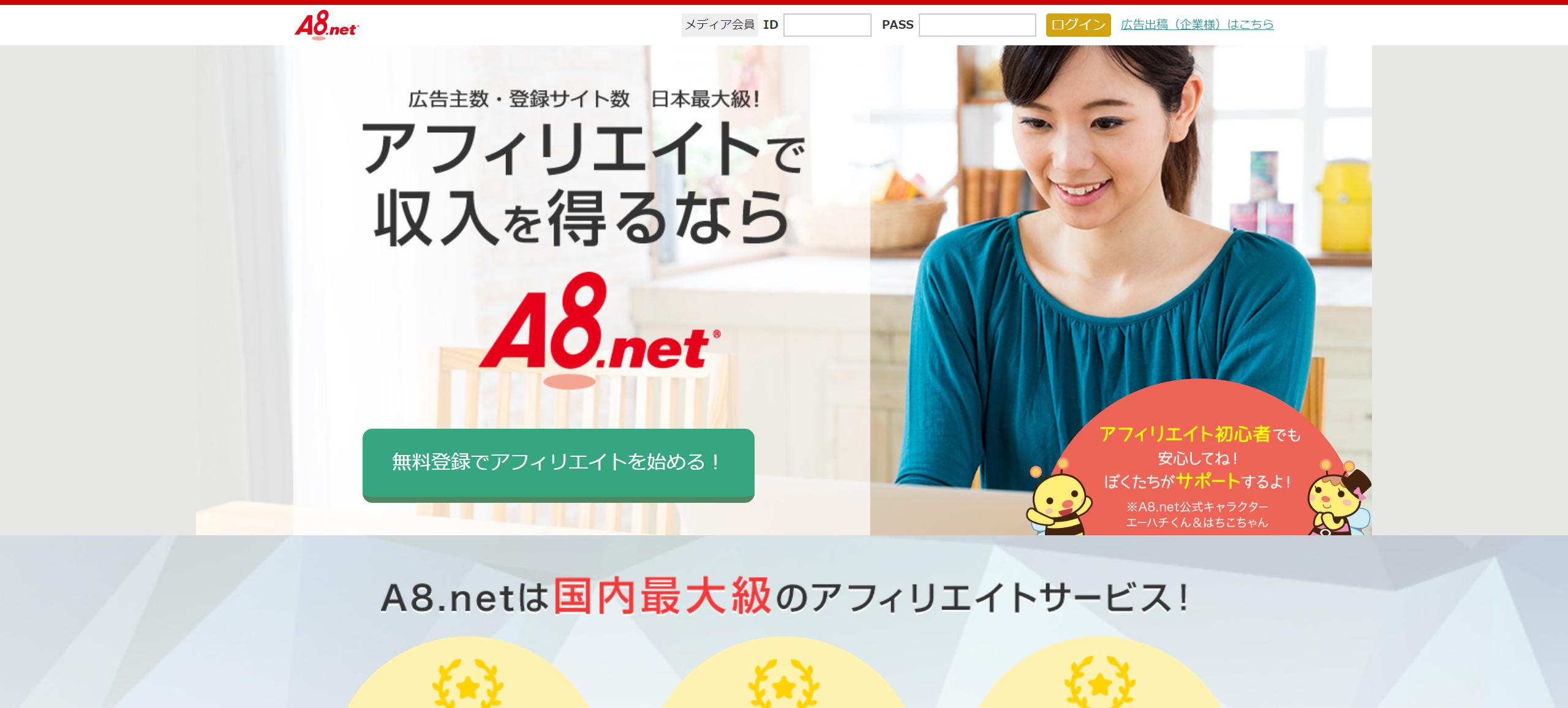 A8.netのセルフバックで稼いでみる