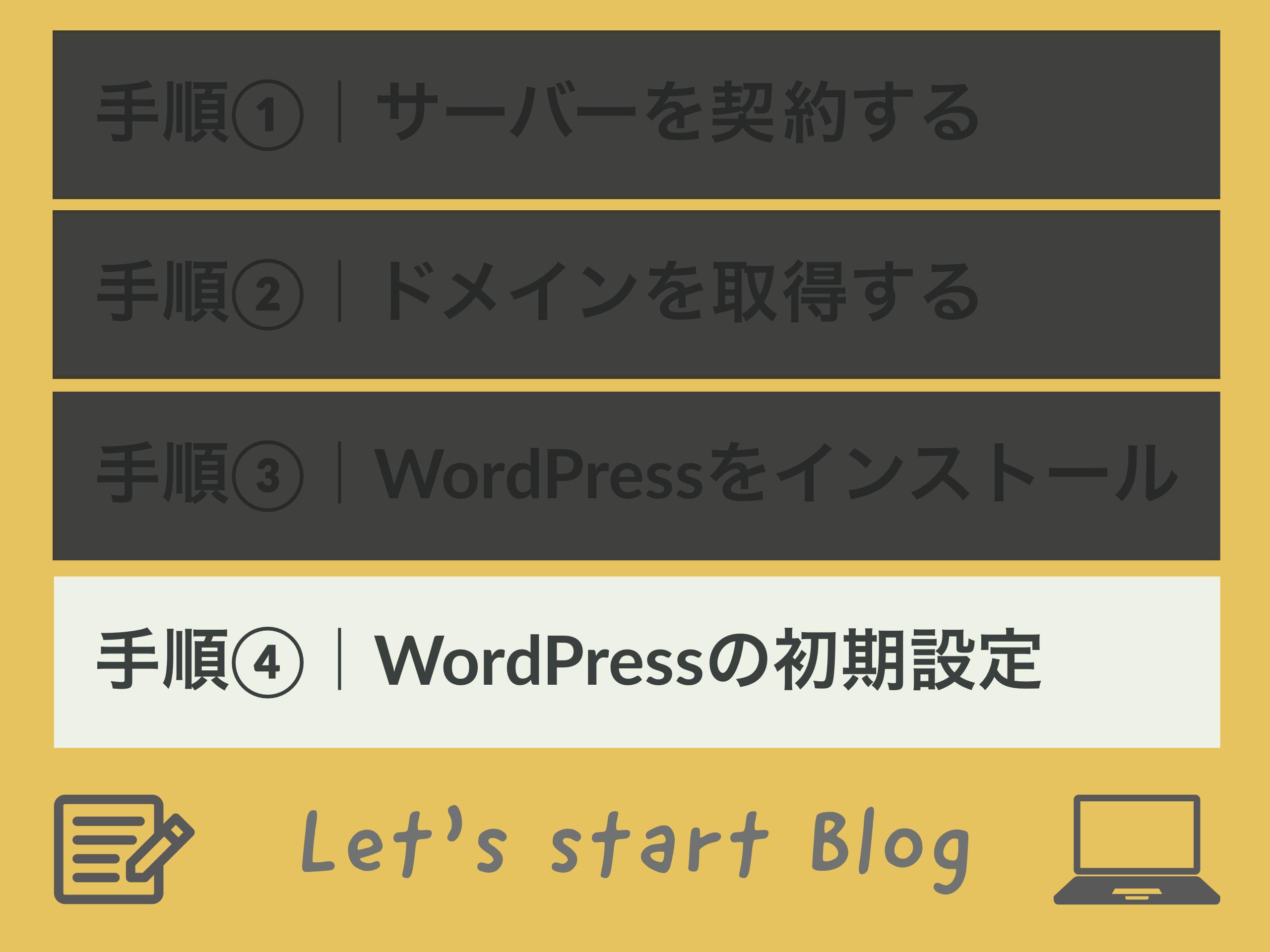 手順④|WordPressの初期設定