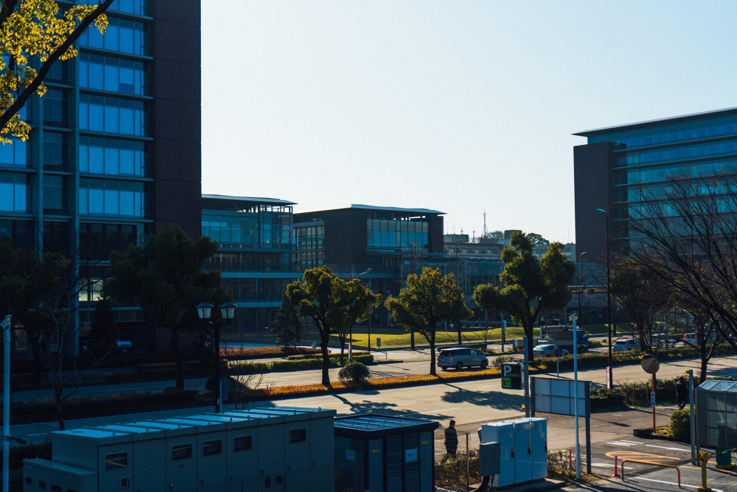 トナリノ テラスから見える名城大学
