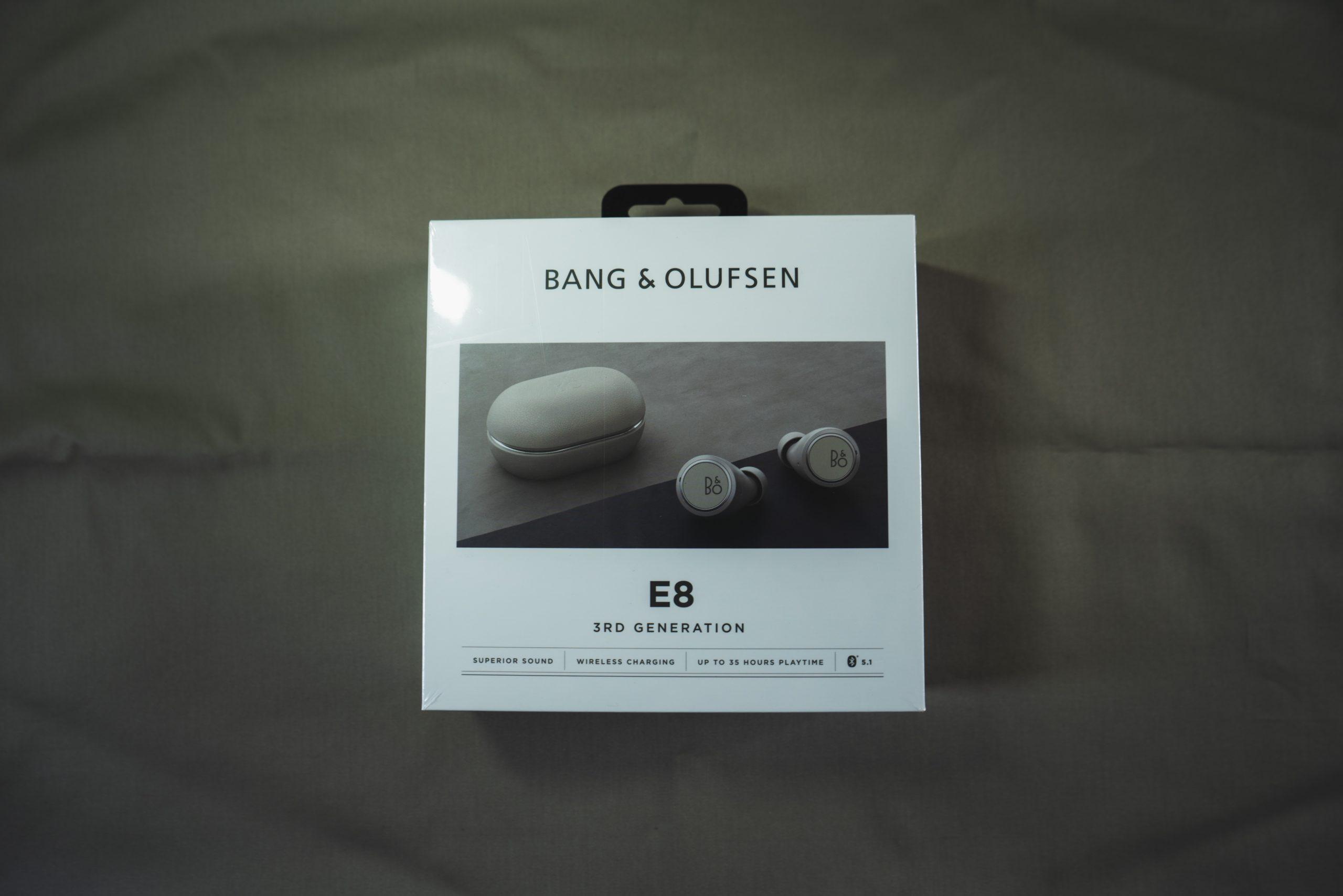 Bang&Olufsenのワイヤレスイヤホン「Beoplay E8 3rd Gen」の梱包