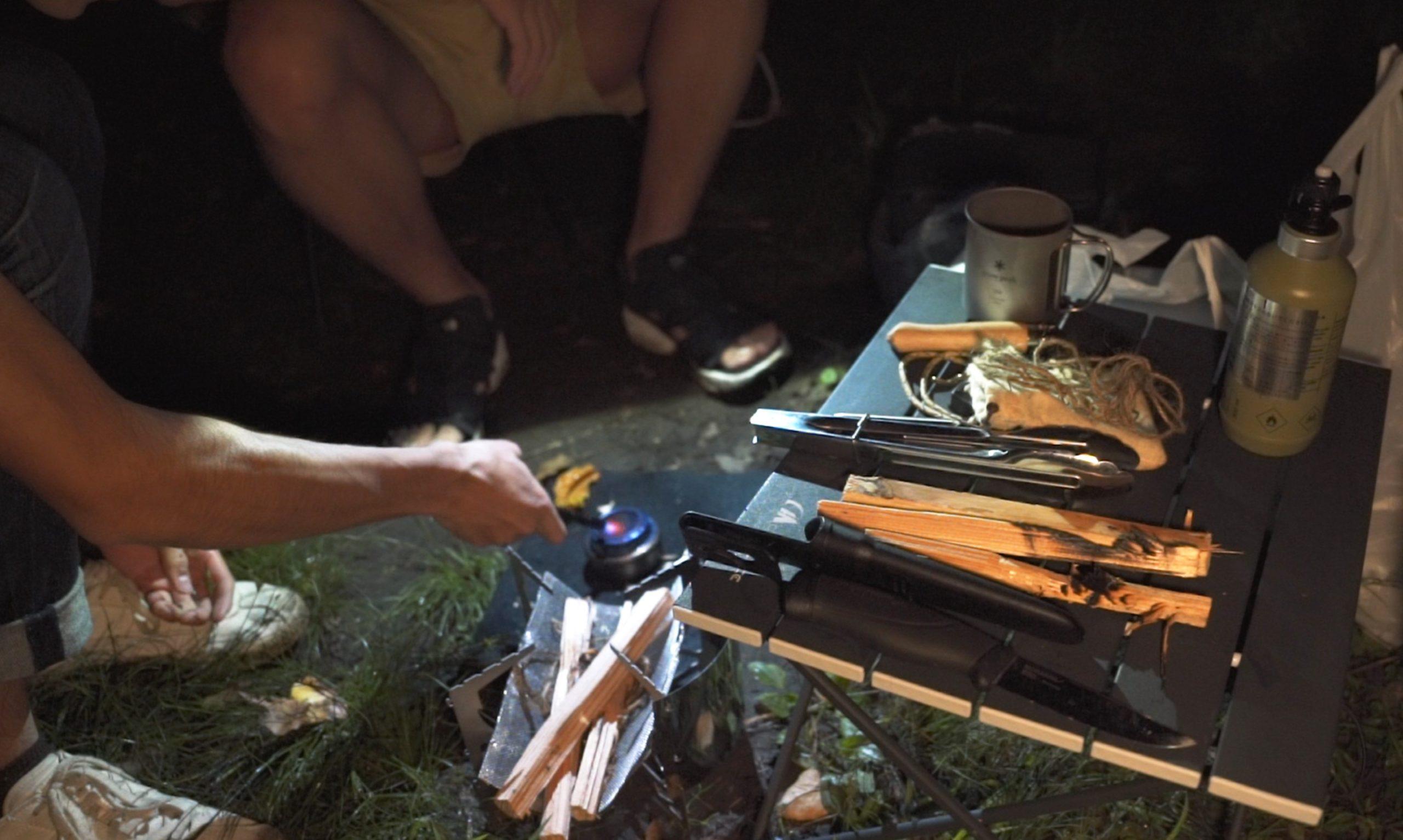 駒出池キャンプ場で念願の初キャンプ!|焚き火で苦戦