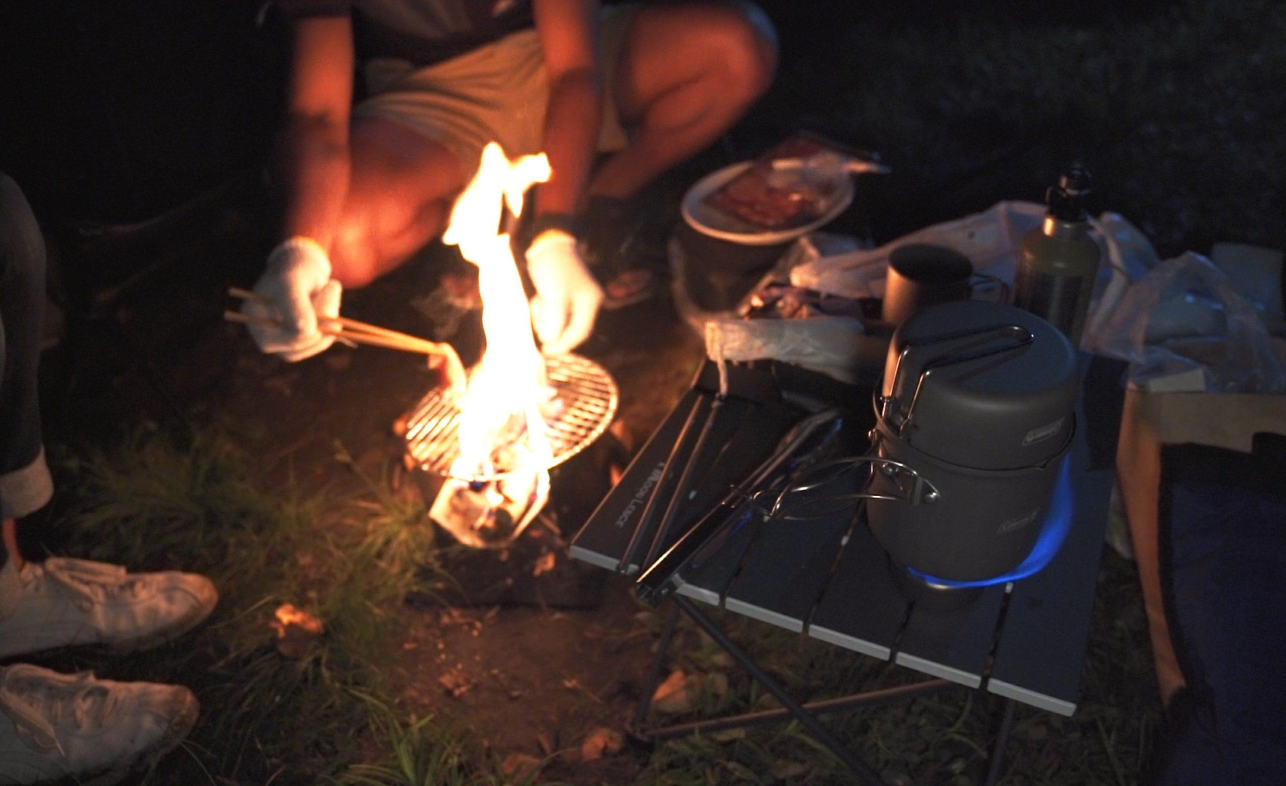 駒出池キャンプ場で念願の初キャンプ!|無事焚き火でご飯!