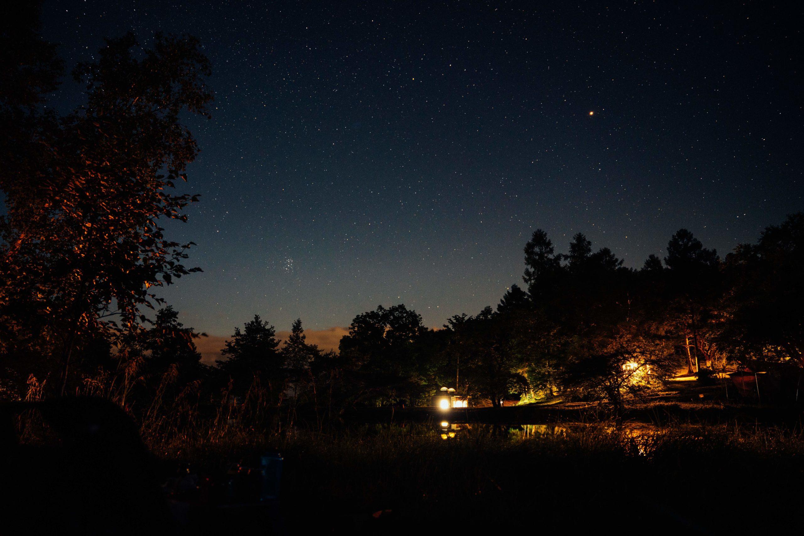 駒出池キャンプ場で念願の初キャンプ!|絶景の星空