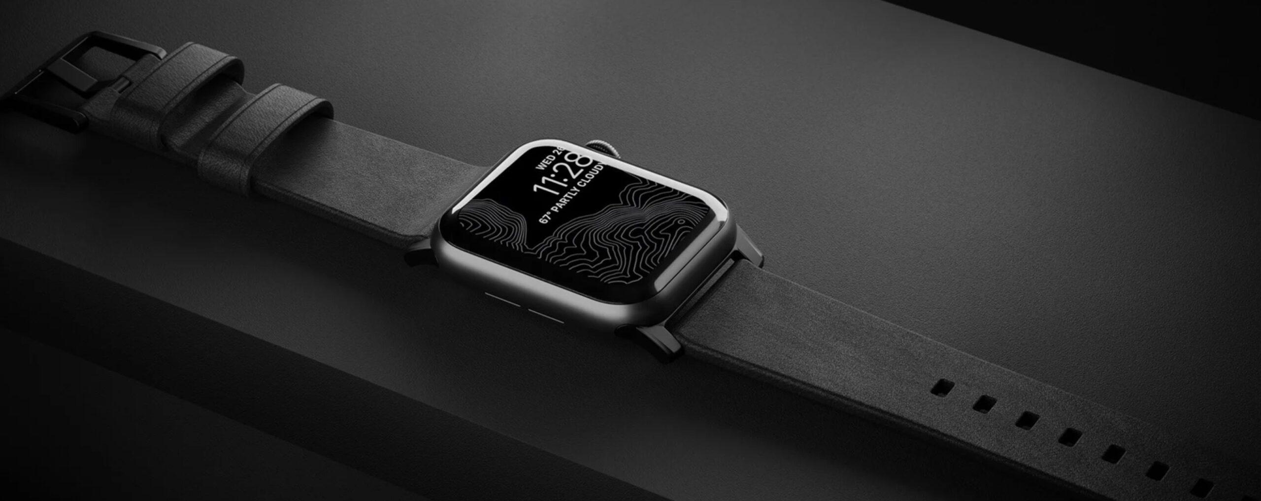 Apple Watchがデジタルだからこそ、レザーバンドでアナログ感も楽しむ。