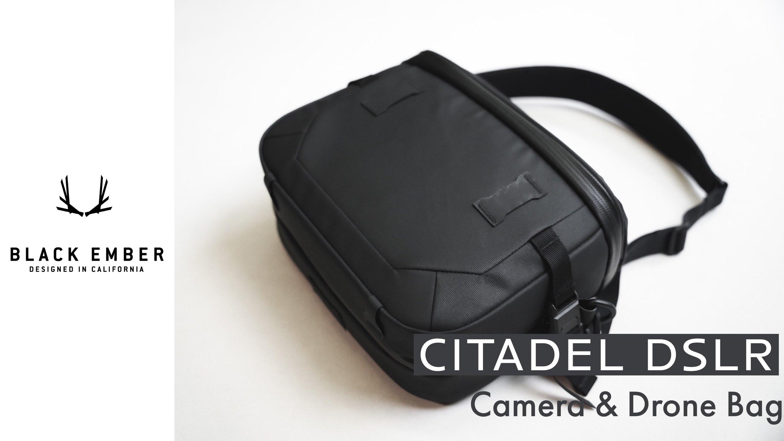 【レビュー】ブラックエンバー CITADEL DSLRで愛機をスマートに持ち運ぶ【カメラ・ドローンバッグ】