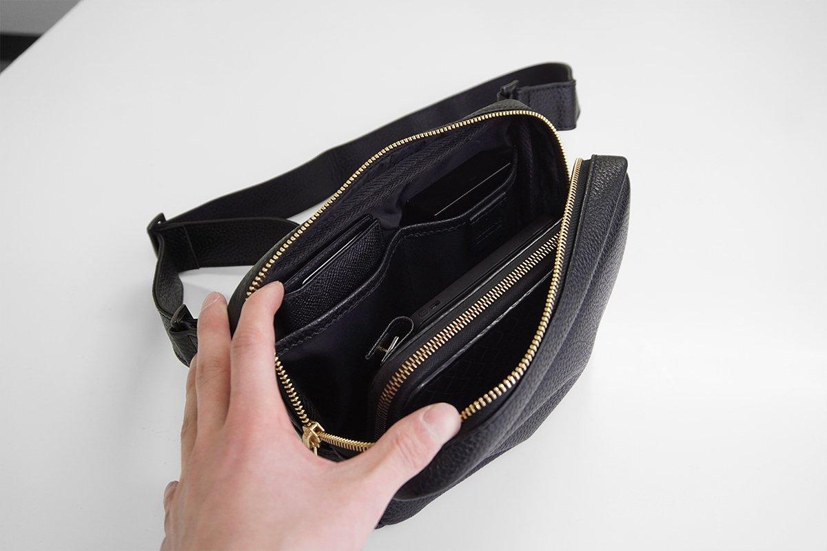 HushTug ボディバッグ 欲しくても見つからなかった本革バッグ