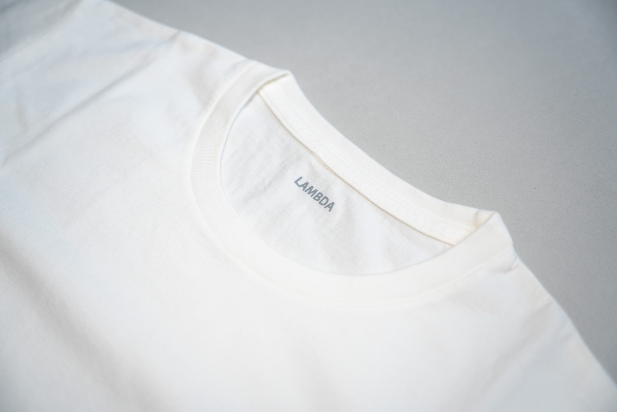 LAMDA パーソナライズTシャツ 縫製・生地のこだわり
